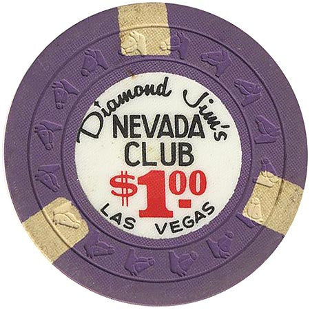 Nevada Club $1 (purple) chip - Spinettis Gaming - 1