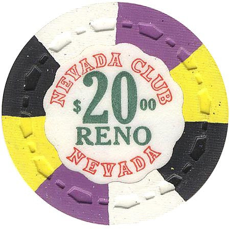 Nevada Club Reno $20 chip - Spinettis Gaming - 1