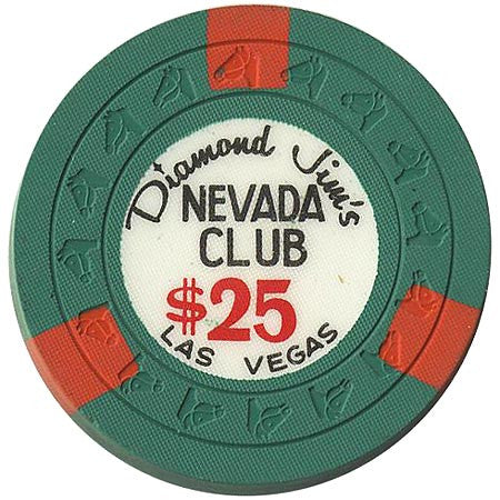 Nevada Club $25 (dk. green) chip