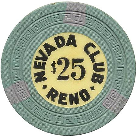 Nevada Club $25 (green) chip - Spinettis Gaming - 1