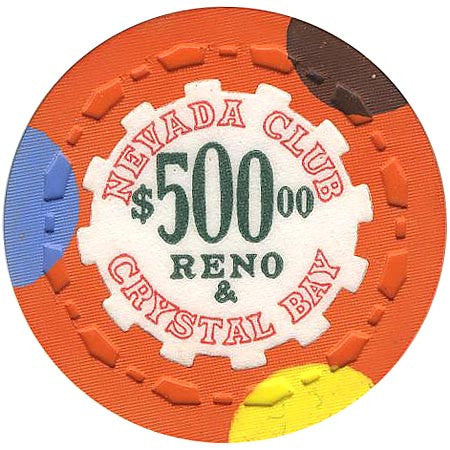 Nevada Club $500 (orange) chip