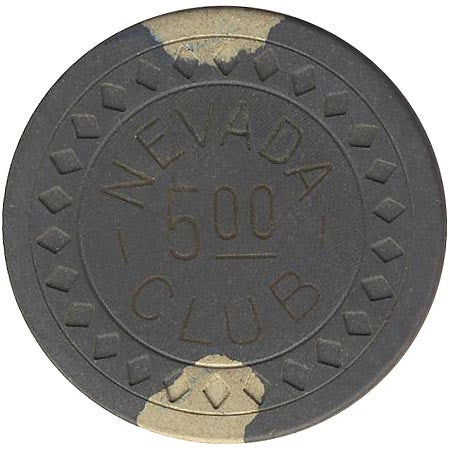Nevada Club $5 (grey) chip - Spinettis Gaming - 1