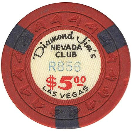 Diamond Jim's Nevada Club Las Vegas $5 (red) chip