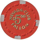 Nevada Club Fallon $5 (red) chip - Spinettis Gaming - 1
