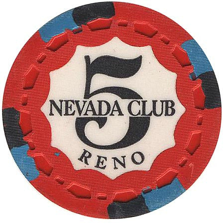 Nevada Club $5 chip 1969 Uncirculated - Spinettis Gaming