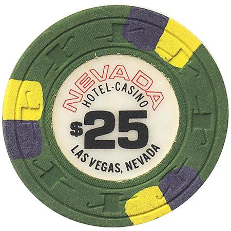 Nevada Hotel $25 (green) chip - Spinettis Gaming - 1