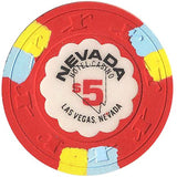 Nevada Hotel $5 (red) chip - Spinettis Gaming - 1