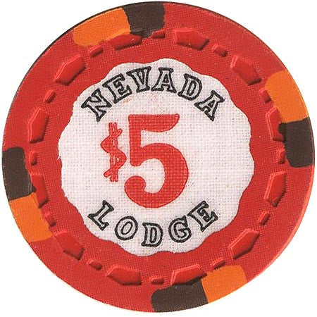Nevada Lodge Reno $5 (red) chip - Spinettis Gaming