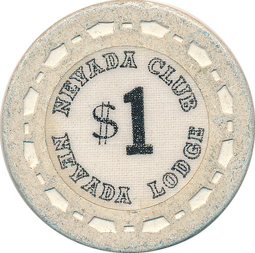 Nevada Club/Lodge Reno NV $1 Casino Chip - Spinettis Gaming - 1