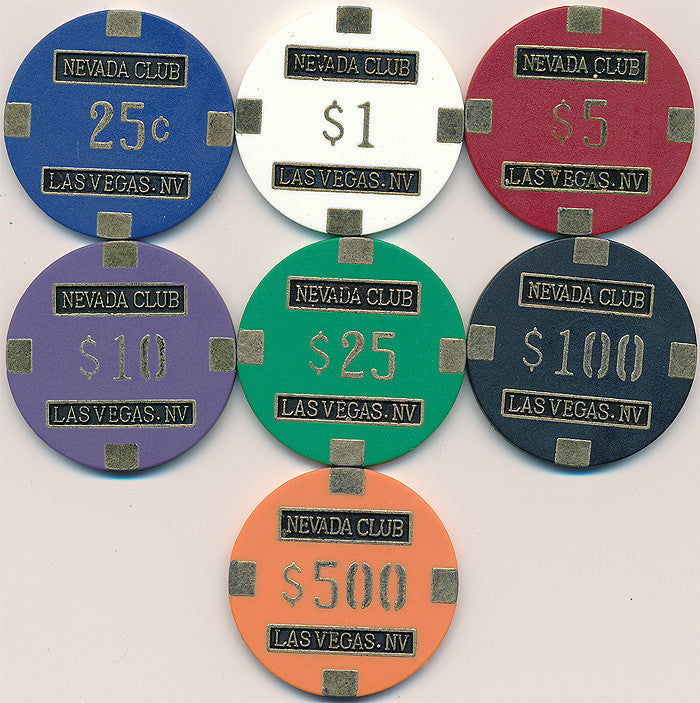 Nevada Club 15gram Poker Chips