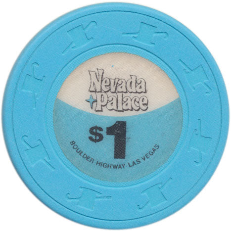 Nevada Palace Casino Las Vegas NV $1 Chip 1980s Short Cane