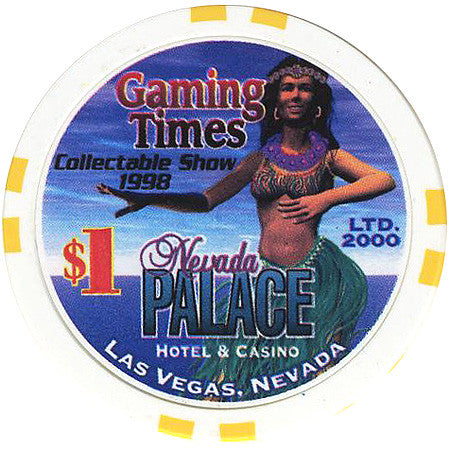 Nevada Palace Casino Las Vegas NV $1 Chip Gaming Times 1998