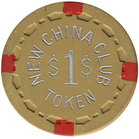 New China Club $1 (dk. yellow) chip - Spinettis Gaming - 1