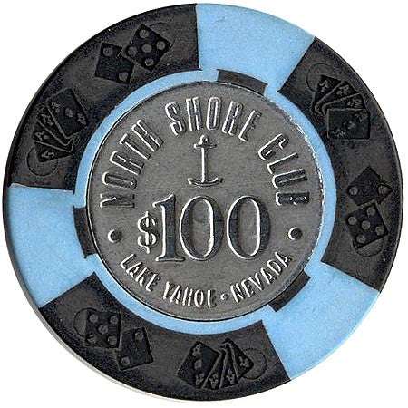 North Shore Club $100 Chip (Coin Inlay) - Spinettis Gaming