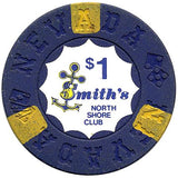 North Shore Club $1 (blue) chip - Spinettis Gaming - 1