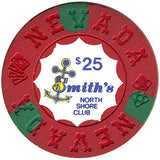 North Shore Club $25 (red) chip - Spinettis Gaming - 1