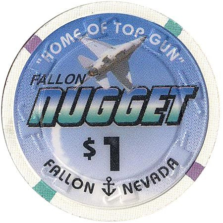 Nugget $1 (white) chip - Spinettis Gaming - 2