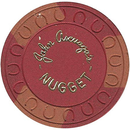Nugget (John Ascuaga) Casino Sparks NV Red Roulette Chip 1970s