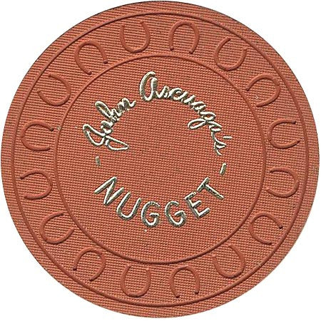 Nugget (John Ascuaga) Casino Sparks NV Orange Roulette Chip 1970s
