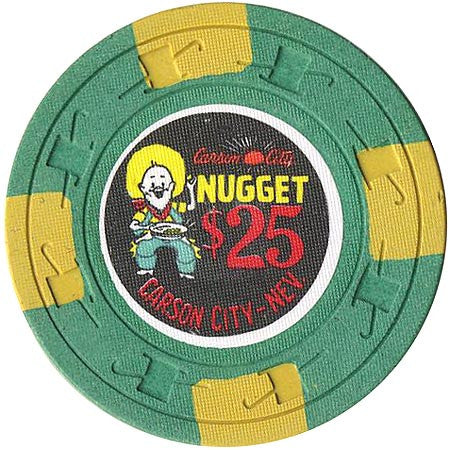 Carson City Nugget $25 (green) chip - Spinettis Gaming - 2