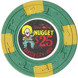 Carson City Nugget $25 (green) chip - Spinettis Gaming - 1