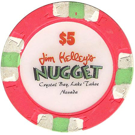 Nugget Jim Kelley's Casino Crystal Bay $5 (pink) chip - Spinettis Gaming - 1