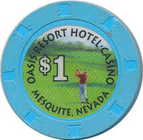 Oasis, Mesquite NV $1 Casino Chip - Spinettis Gaming - 2