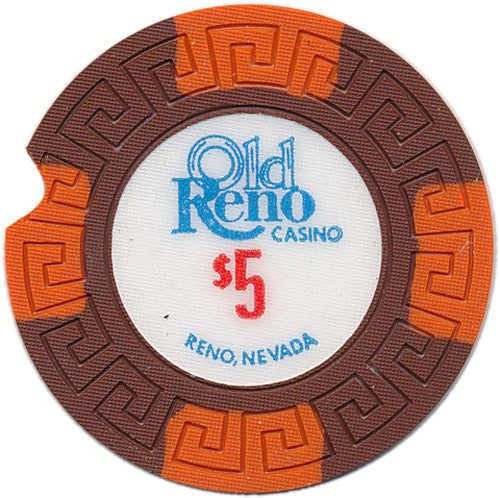 Old Reno Casino $5 (notched)