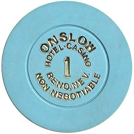 Onslow Casino Reno NV $1 (Non-Negotiable) Chip 1987