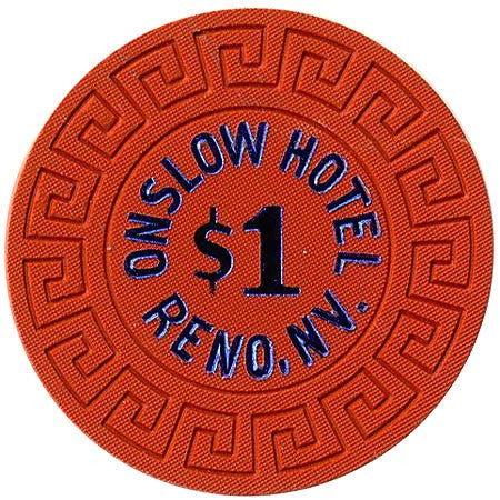 Onslow Casino $1 (orange) chip - Spinettis Gaming - 1