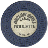 Onslow Casino Roulette (blue) chip - Spinettis Gaming - 1