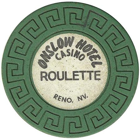 Onslow Casino Reno NV Green Roulette Chip 1979