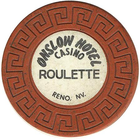Onslow Casino Reno NV Orange Roulette Chip 1979