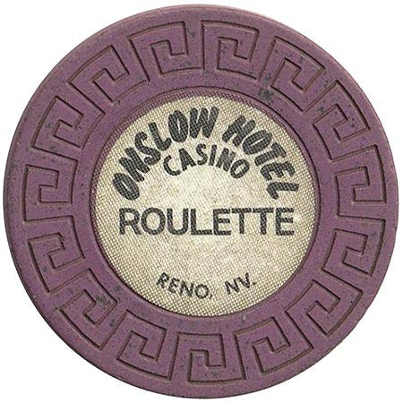 Onslow Casino Reno NV Purple Roulette Chip 1979