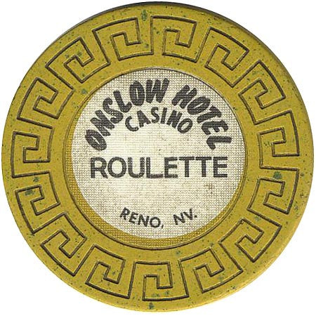 Onslow Casino Reno NV Yellow Roulette Chip 1979