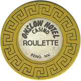 Onslow Casino Roulette ( yellow) chip - Spinettis Gaming - 2