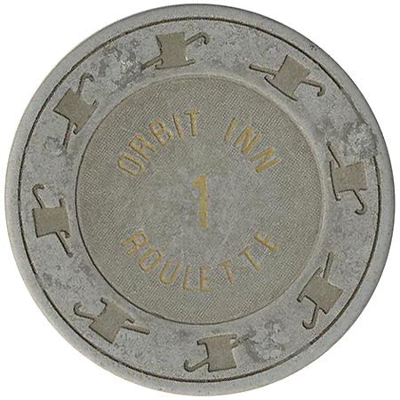 Orbit Inn 1 (gray) roulette chip