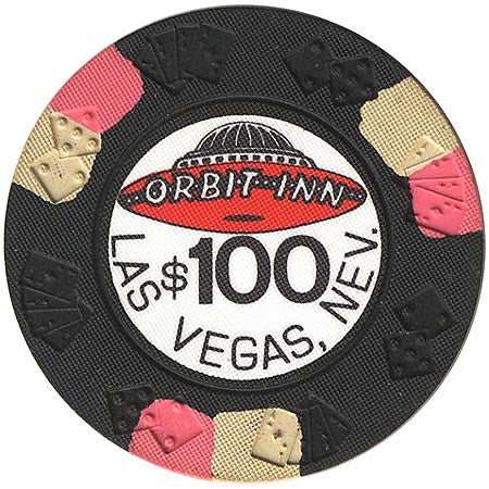 Orbit Inn Casino Las Vegas NV $100 Chip 1981