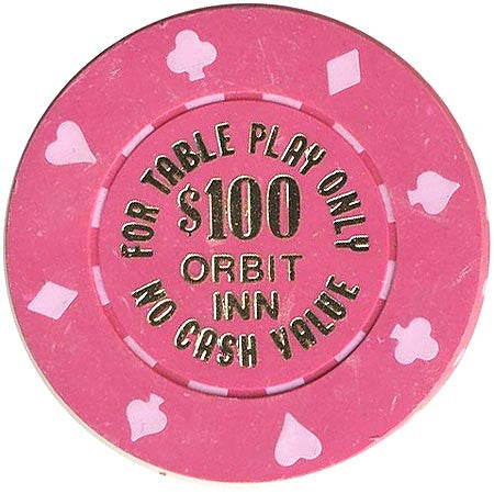 Orbit Inn Casino Las Vegas NV $100 NCV Chip 1986