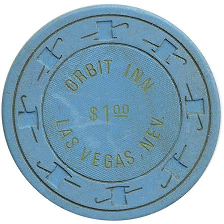 Orbit Inn $1 (blue) chip
