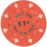 Orbit Inn $1 (orange) chip - Spinettis Gaming - 2