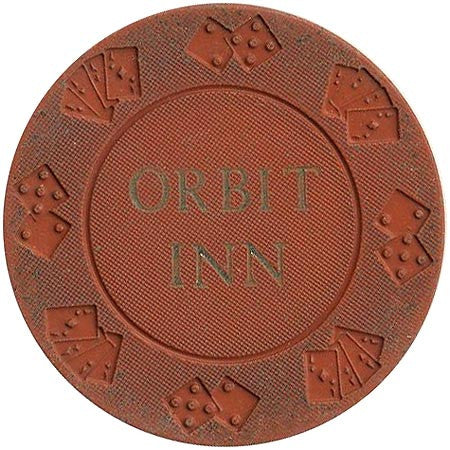 Orbit Inn Casino Las Vegas NV Orange Chip 1976