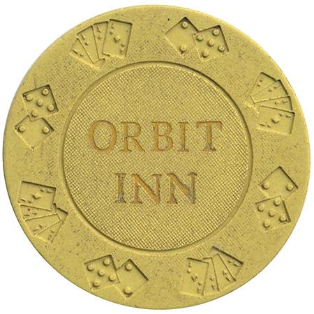 Orbit Inn (yellow) chip - Spinettis Gaming - 1