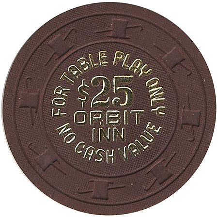 Orbit Inn $25 (brown) chip