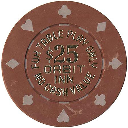 Orbit Inn Casino Las Vegas NV $25 NCV Chip 1986