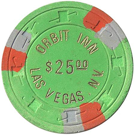 Orbit Inn $25 (green) chip - Spinettis Gaming - 2