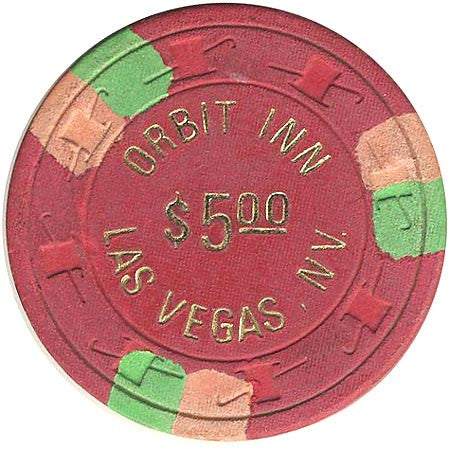 Orbit Inn $5 (red) chip