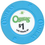 Osheas (Hat & Cane), Las Vegas NV $1 Casino Chip - Spinettis Gaming - 2