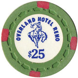 Overland Hotel $25 (green) chip - Spinettis Gaming - 1