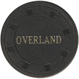 Overland Hotel $5 (black) chip - Spinettis Gaming - 1